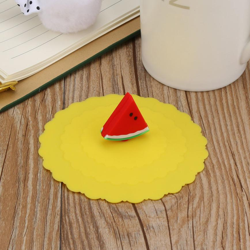 Saingace Cartoon Fruit Lace Dustproof Reusable Silicone Cover Cup Splicing Thermal Insulation Cup Seal Cover Happy Sale ap608