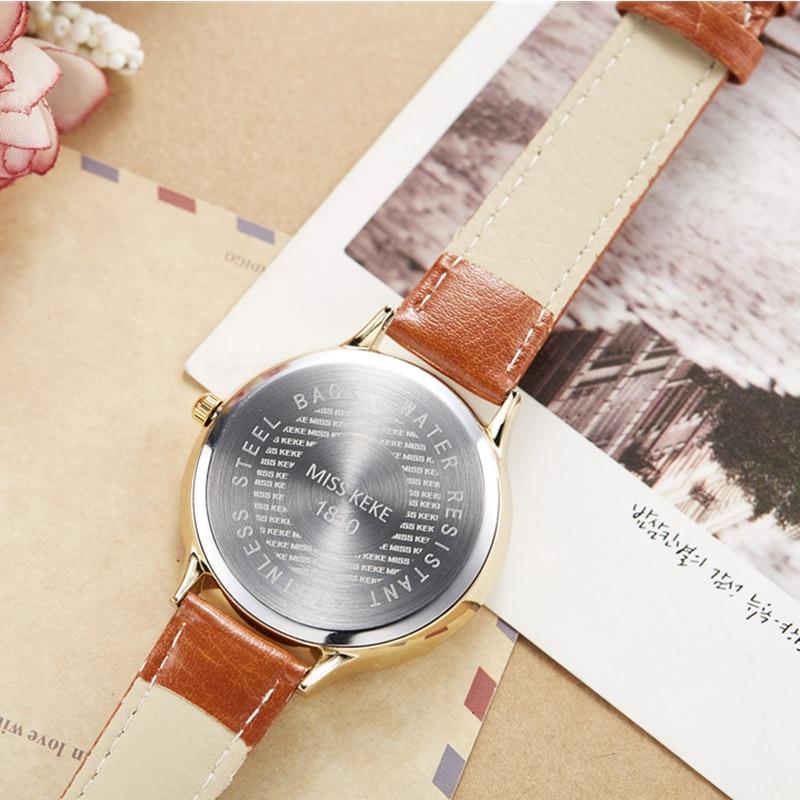 Orz Miss Keke 3d Clay Cute Yellow Feestjurken Horloges Relogio - Dameshorloges - Foto 6