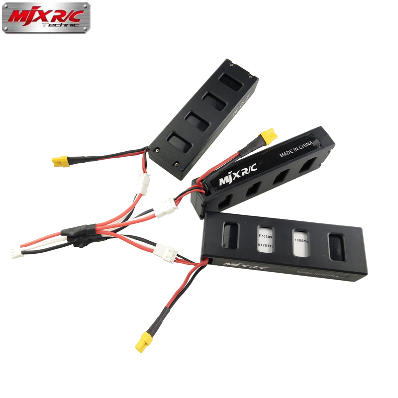 MJX B3 RC Drone Battery 7.4 V 1800 mAh 25C Li-po battery for MJX Bugs3 B3 RC Quacopter Drone Spare Battery Parts free shipping mjx x101 2 4g 4 channels r c quadcopter rc drone 7 4v 1200 mah li po battery