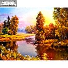 Sunset river Diamond Painting