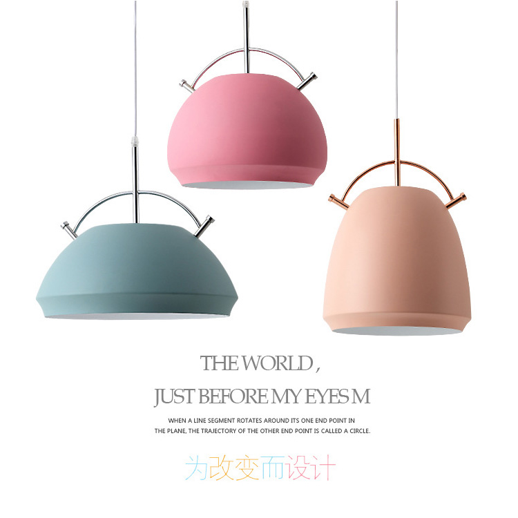 Nordic macarons restaurant chandelier wrought iron industrial wind bar creative personality office cafe dining table lamps light