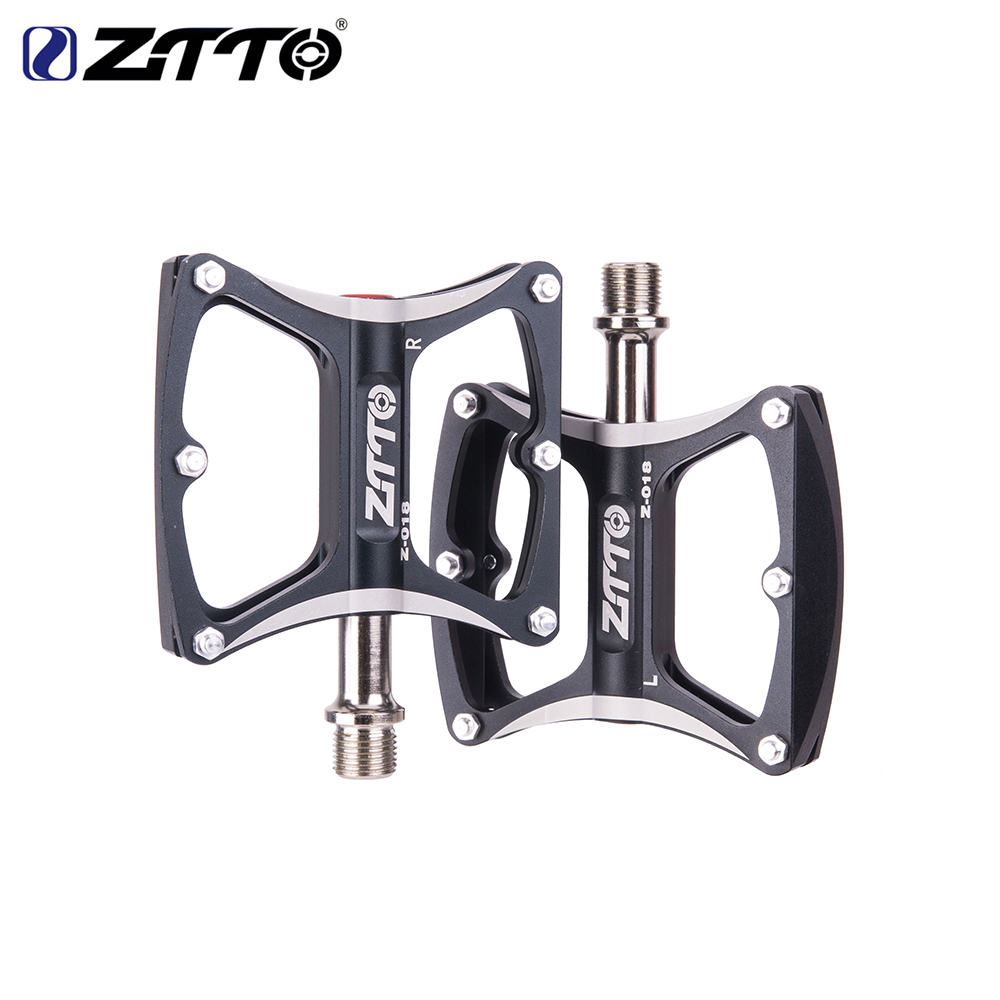 ZTTO MTB Bike Ultralight Pedal Cycling 6 Sealed Bearings CNC Non slip Bicycle Pedals Flat Platform Antiskid Riding Pedal in Bicycle Pedal from Sports Entertainment