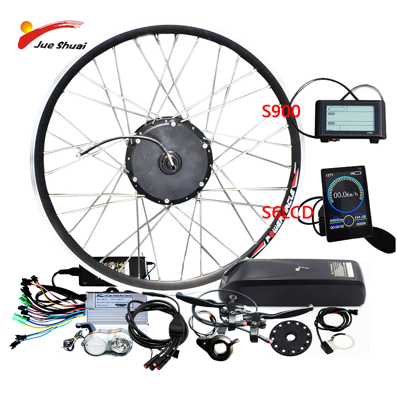 Powerful 48V500W Electric font b Bike b font Conversion Kit with Lithium Battery for 26 700C