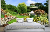 Custom 3D Photo Wallpaper Room Mural Green Health Villa Garden HD Painting 3d Photo Sofa TV