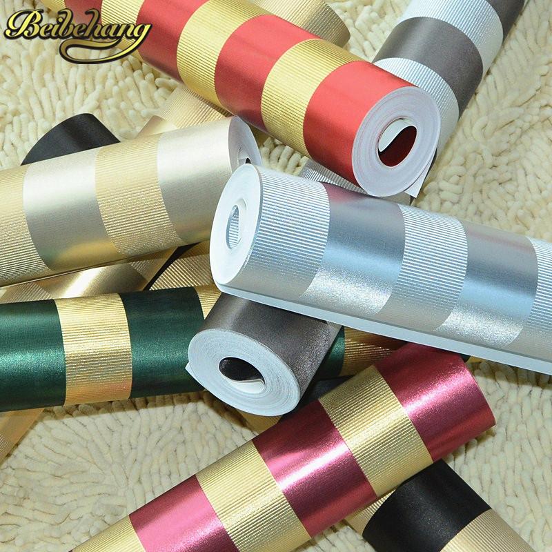 beibehang papel de parede 3D Gold foil reflective color vertical striped black red wallpaper for walls 3 d KTV wall paper roll beibehang ktv gold silver square papel de parede 3d wallpaper rolls tv background wall paper 3d all mosaics wallpaper for walls