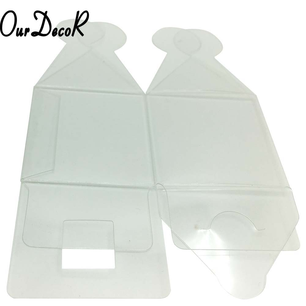 50Pieces/lot Clear Square Wedding Favor Gift Box Transparent Party ...