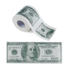 Сто долларов купюр печатная туалетная бумага Америка долларов США ткань Новинка Забавный$100 TP деньги рулонный кляп подарок