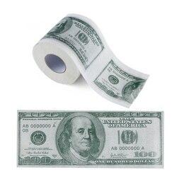 Сто долларов купюр печатная туалетная бумага Америка долларов США ткань Новинка Забавный $100 TP деньги рулонный кляп подарок