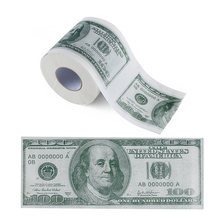 One Hundred Dollar Bill Printed Toilet Paper America US Dollars Tissue Novelty Funny $100 TP Money Roll Gag Gift(China)