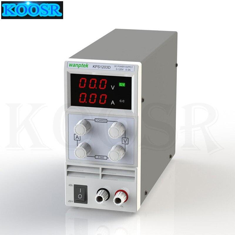 KPS1203D 110V 220V Adjustable High precision digital LED display switch DC Power Supply 0 3A 0