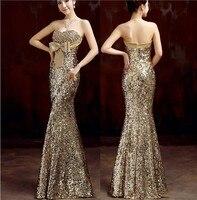 2016 Бесплатная доставка, Золотое вечернее платье с блестками, длинное вечернее платье, robe de soiree vestido de festa longo com abendkleider TK1043