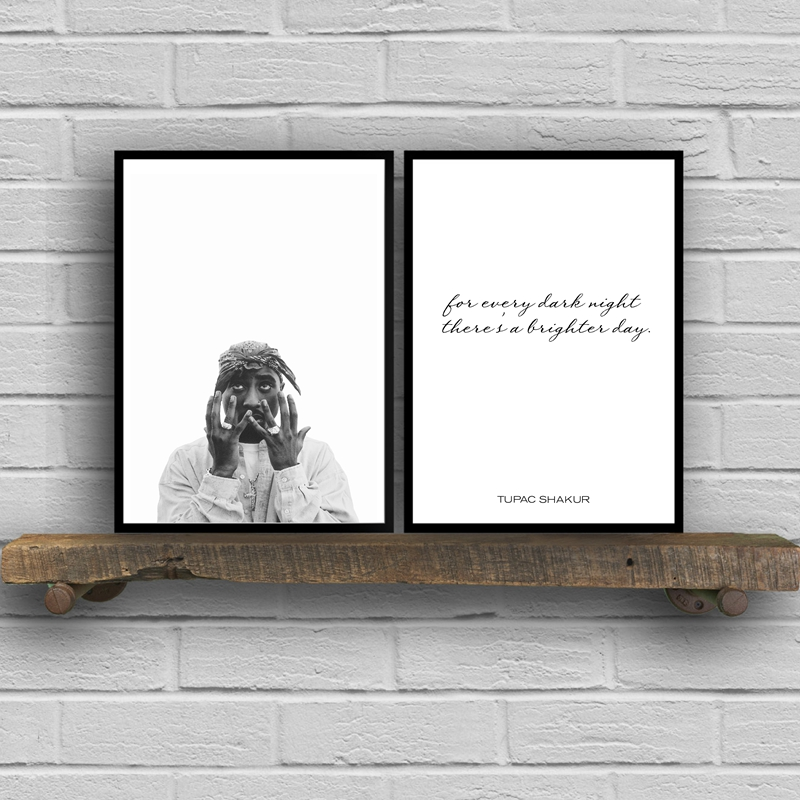 Tupac Shakur Decoration Rap Poster Wall Art Canvas Print , Hip Hop Poster Art Prints Tupac Canvas Poster Wall Picture