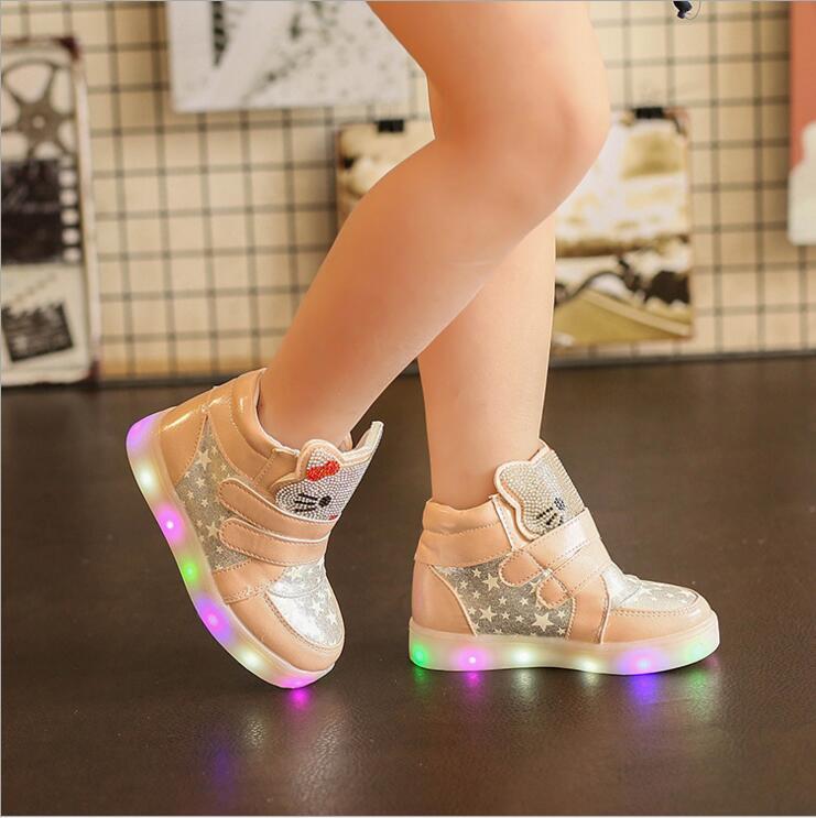 Children-cartoon-kitty-casual-shoes-with-light-new-breathable-sports-shoes-girls-flashing-LED-fashion-glowing-sneakers-21-30-2