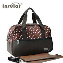 insular multifunctional diaper bags maternity mummy handbag baby care stroller bag High capacity mother Messenger nappy bags