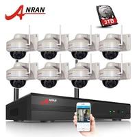 ANRAN 8CH 8PCS Wifi NVR Kit H 264 1080P HD Wireless IP Camera 2MP Home Security