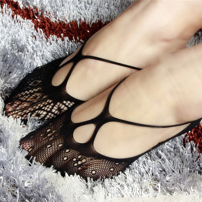 Black Hollow Invisible Socks Non Slip Summer Socks Solid Liner Popsocket Sock Slippers Breathable Calcetines De Verano 30APR3012