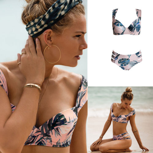 <font><b>Sexy</b></font> Women <font><b>Floral</b></font> Push-up Padded Bra Bandage <font><b>Bikini</b></font> <font><b>Set</b></font> New <font><b>2018</b></font> Summer Swimsuit Triangle <font><b>Swimwear</b></font> Bather Suit image