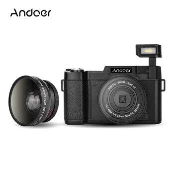 "Andoer CDR2 3.0"" Rotatable Digital Camera 1080P 24MP Video Camera DV Anti-shake Recorder Camcorder w/ Wide-angle Lens+UV Filter"