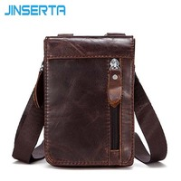 JINSERTA Luxury Genuine Leather Wallet Belt Clip Waist Case For IPhone 8 8Plus Universal Phone Cover