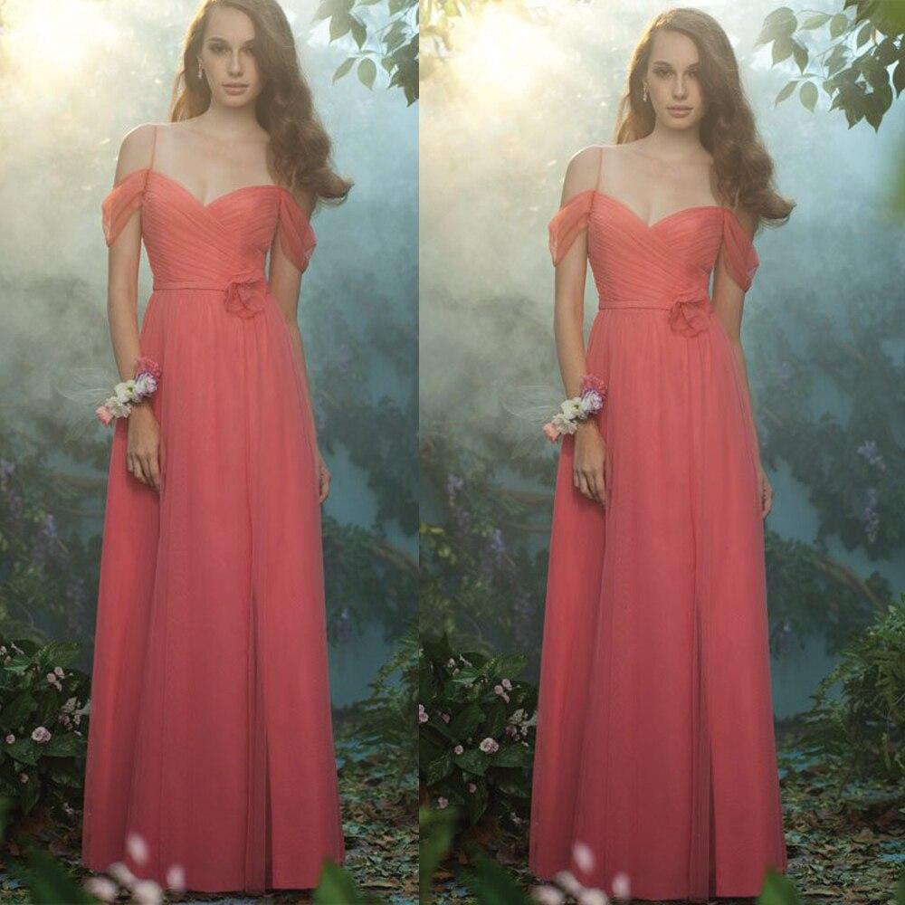 New Maid of Honor   Dresses   Sweetheart Neckline Pleats Chiffon Long   Bridesmaid     Dresses   2015 Coral