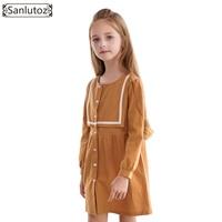 Sanlutoz Winter Girls Dress Party Kids Clothes Princess Children Clothing 2017 Toddler New Fashion Brand Wedding