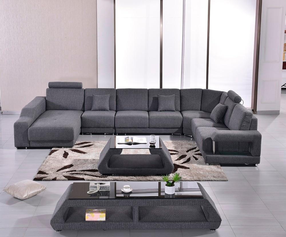 2017 Promotion New Fabric Modern Sofa Set Armchair Sectional Sofa Beanbag  Big Size U Shape Living Room Sofa Set In Living Room Sofas From Furniture  On ...