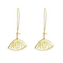 Summer Jewelry Boucle D'oreille Femme 2017 Gold Silver Color Stainless Steel Seedpod Of Lotus Flower Drop Earrings For Women