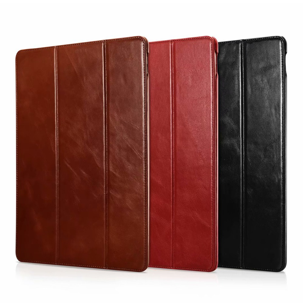 Icarer Business Retro Leather Case for For iPad Pro 12 9 2017 High Quality Genuine Leather