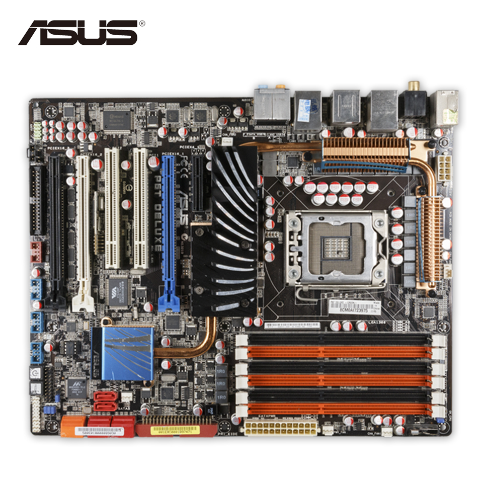 For P6T Deluxe Original Used Desktop Motherboard For Intel X58 Socket LGA 1366 For i7 DDR3 24G SATA2 USB2.0 ATX
