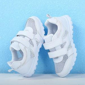 Image 2 - Boys school shoes girls sneakers Childrens white sports shoes breathable running shoes kids non slip soft casual sneakers 25 41