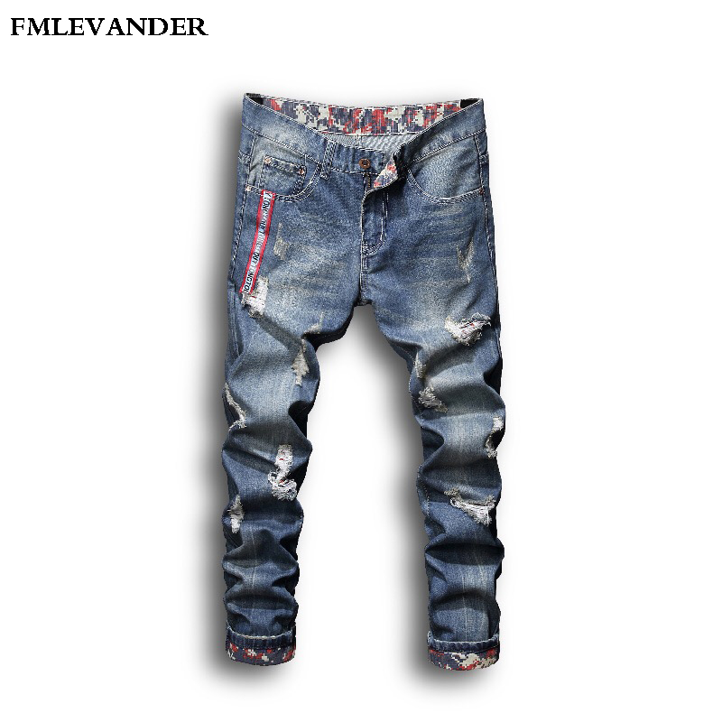 2018 New Young Men's Fashion   Jeans   Casual Stretch Slim   Jeans   Classic Trousers Denim Pants Male