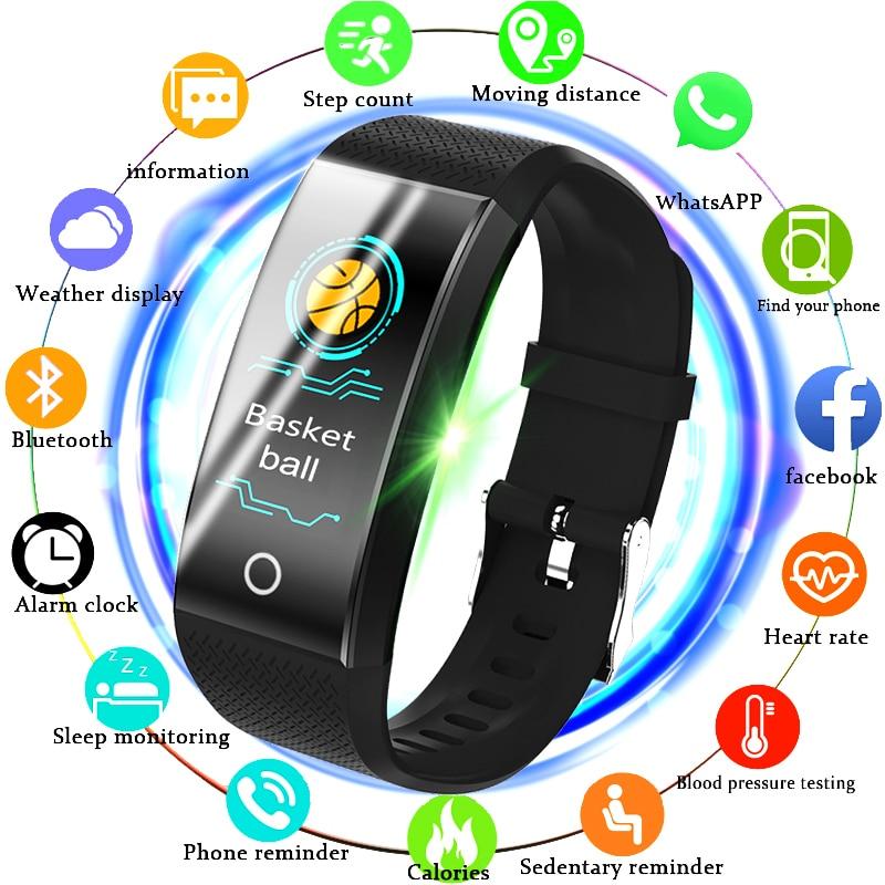 31409d5c6 BANGWEI Fitness Smart Watch Men Women Pedometer Heart Rate Monitor  Waterproof IP67 Running Sport Watch For Android IOS purevision.biz