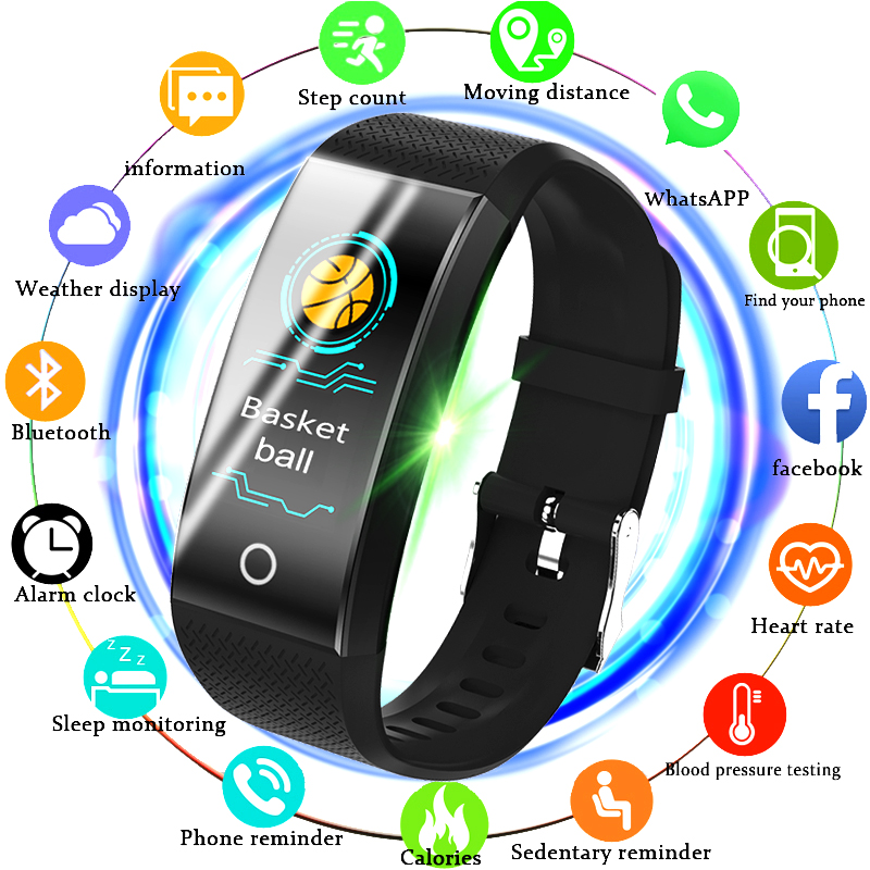 BANGWEI Fitness Smart Watch Men Women Pedometer Heart Rate Monitor Waterproof IP