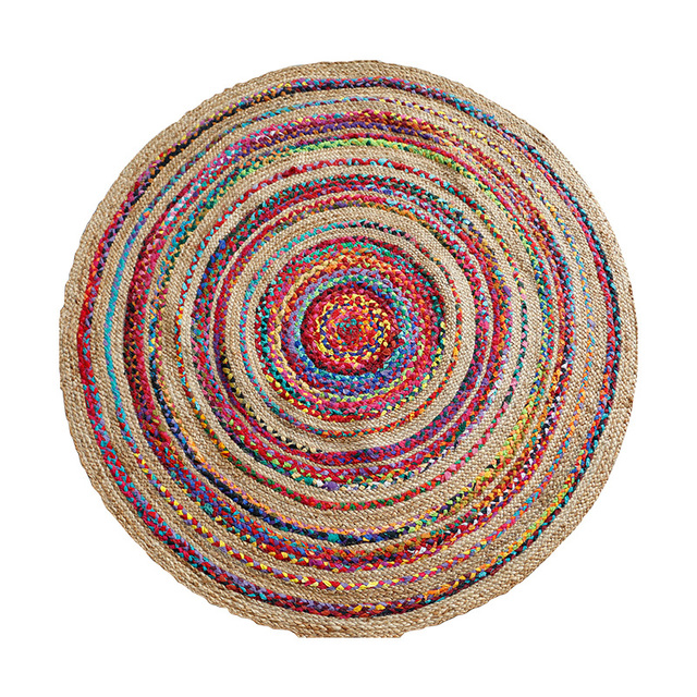 Knitted Cotton Linen Round Carpet Mawgie