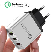 Quick Charge 3.0 USB Charger 5V 2.4A QC3.0 Fast Charging USB Wall Charger for iPhone Samsung Xiaomi Mobile Phone Charger 3 USB(China)