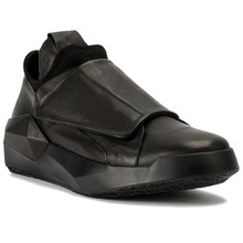 Genuine Leather New Trainer Platform irregular Angular Sole Personalized Elastic Band Shoes Streeet England Men Shoes
