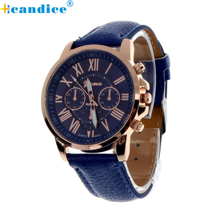 Fabulous 2016 hot sale analog quartz faux leather beautiful Roman numeral watch women wrist watches free shipping Wholesale