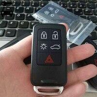 משלוח חינם מכונית 5 כפתורי מפתח מרחוק אינטליגנטי מעורר 433 Mhz עם ID46 שבב עבור וולוו S60 S80 V60 XC60 XC70 מפתח חכם כרטיס