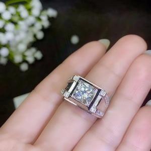 Image 5 - モアッサナイト男性のリング、 925 シルバー、美しい Firecolour 、ダイヤモンド代替