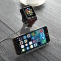Gris aluminio titular de soporte de carga dock station para el iphone apple watch ee.uu. s2eg vg005 t18 0.4