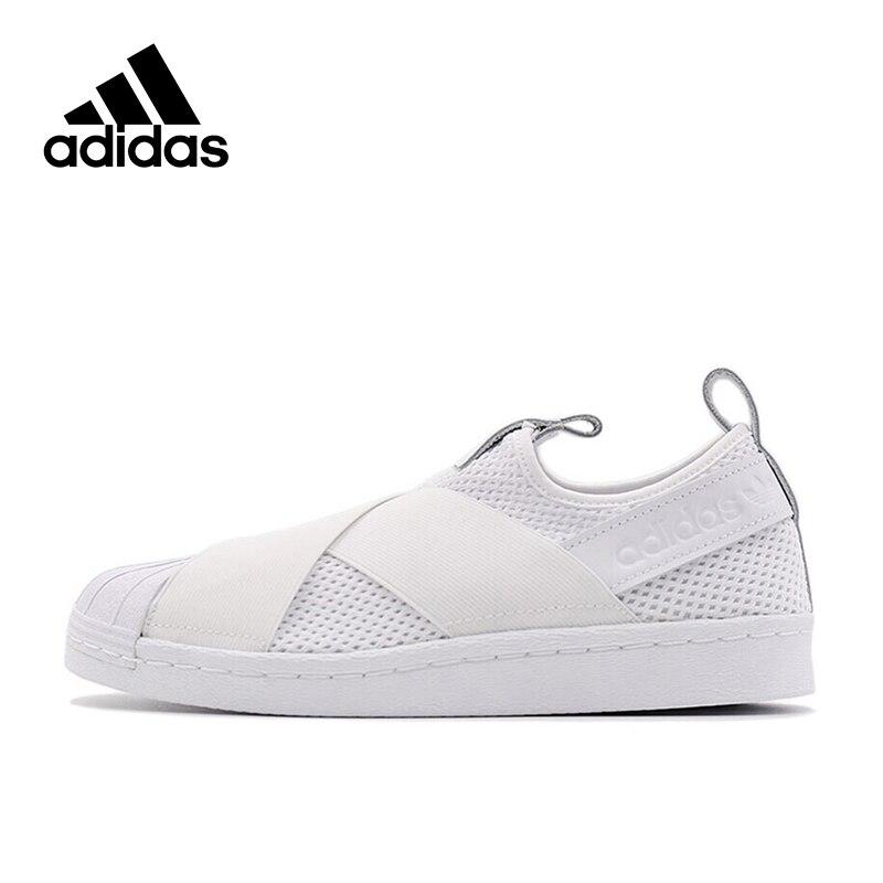 New Arrival Official White Adidas Originals SUPERSTAR SLIP Women's Breathable Skateboarding Shoes Sports Sneakers adidas originals men s superstar ll sneaker