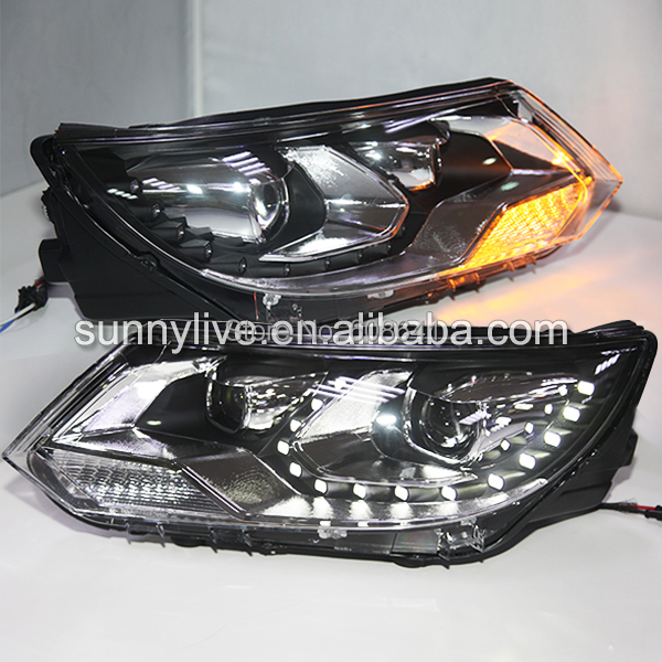 For VW Tiguan LED Head Lamp Projector Lens 2013-204 LF накладка на задний бампер vw tiguan 2007