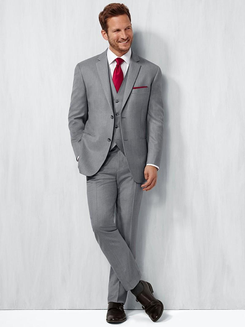 K:1267 As Effectively As A Fairy Does jacket+pants+vest+tie Two Button Mens Blazer Dinner Party Prom Suits Groom Tuxedos Business Suits