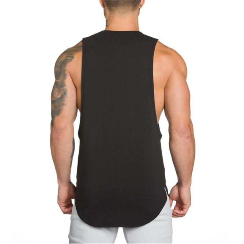 Brand Gyms Stringer Clothing Bodybuilding Tank Top Men Fitness Singlet Sleeveless Shirt Solid Cotton Muscle Vest Undershirt 29