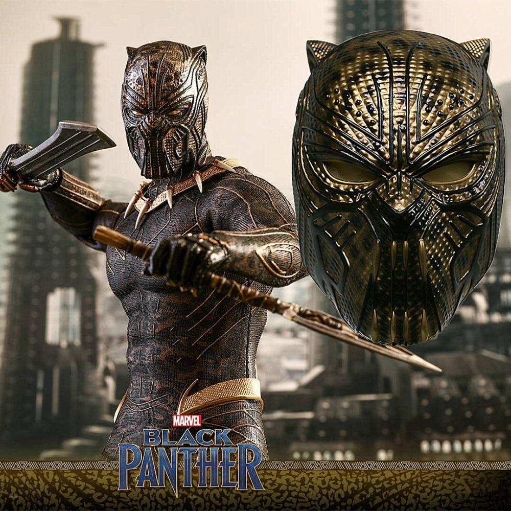 2018 Black Panther Helmet Infinity War Leopard Gold Black Panther Superhero Helmet Props Halloween Party Prop