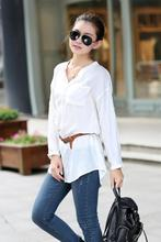 2015 Promotion Blouse Blusas Femininas Women's Kimonos Linen Cotton Long-sleeved Shirt And Long Sections Coat Female Xxxxl Tops