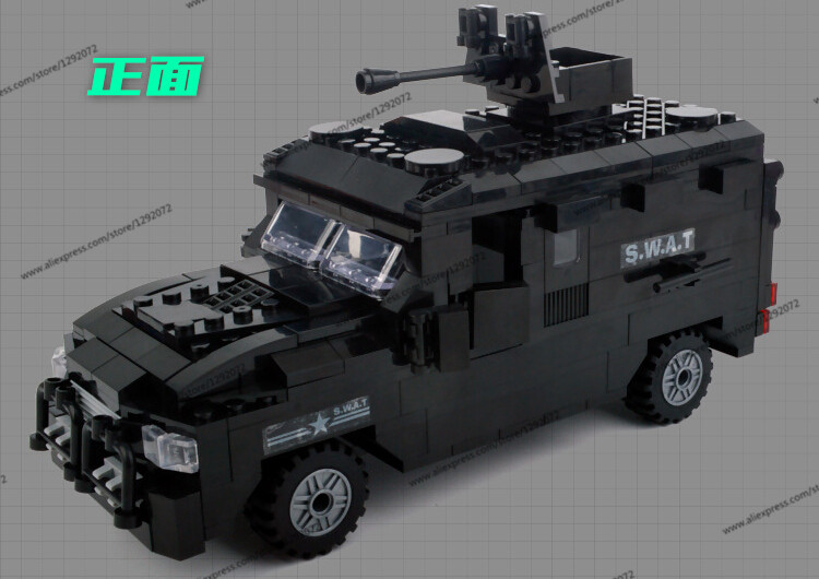 Police station SWAT Armored car jeep Military Series6509 3D Model building blocks compatible with lego city Boy Toy hobbies Gift police station park diy track car parking building block toy boy gift learning