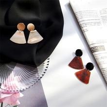 2017 Geometric Earrings Temperament Metal Japan and South Korea Acetate Plate Personalized Tide Models Wild Tide Earrings