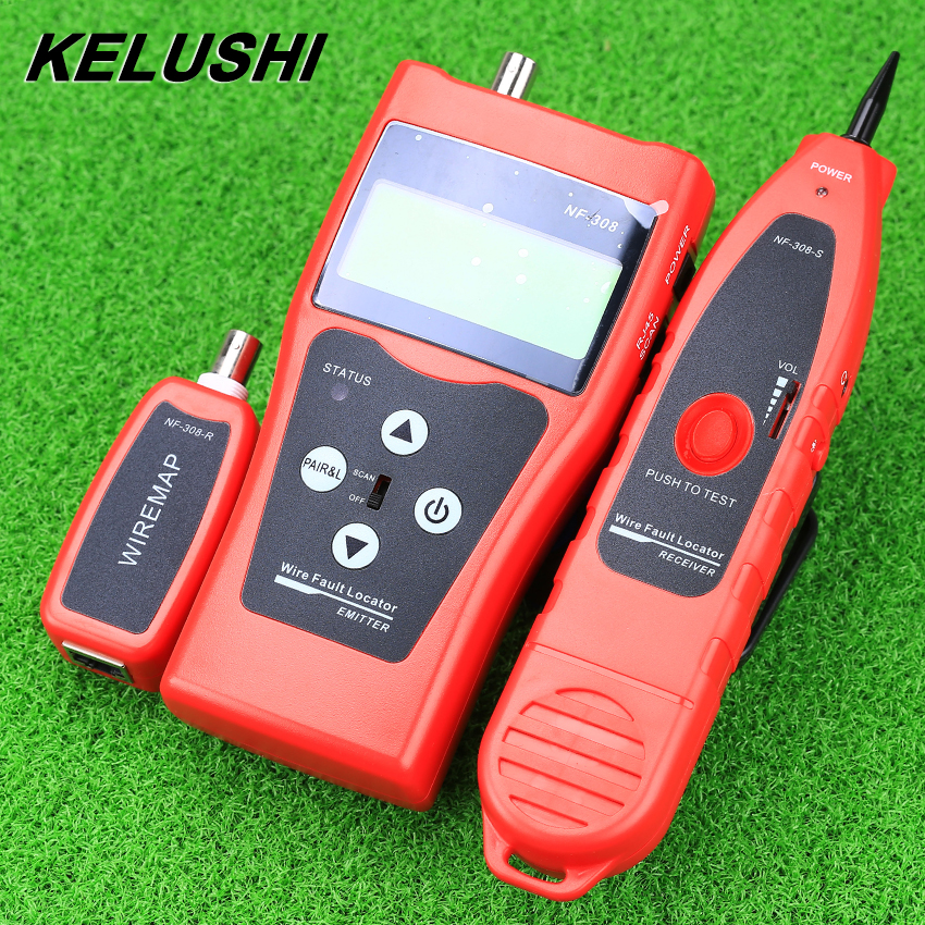 KELUSHI NF-308 Multipurpose Network Cable Test Hunting wire sorting cable length test 5E 6E cable coaxial RJ45 Free Shipping multipurpose stripper coaxial cable power cable f connector wire strippers tools for rg6 rg11 5 7hlt505