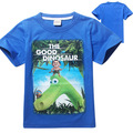 2016 Hot Boy T-shirt The Good Dinosaur Summer Cotton Cartoon Superhero Print Teennage Tee Brand Short Sleeve Costume Kid Clothes